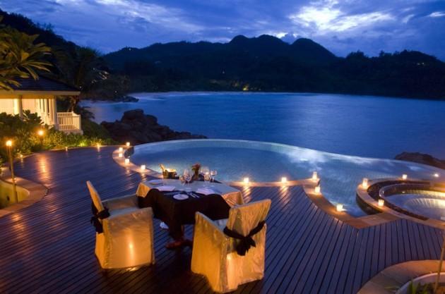 ιδέες για ρομαντικό Τραπέζι σε εξωτερικό χώρο10
