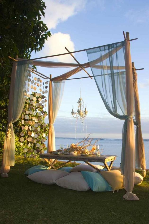 ιδέες για ρομαντικό Τραπέζι σε εξωτερικό χώρο12