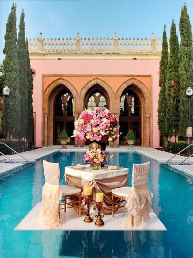 ιδέες για ρομαντικό Τραπέζι σε εξωτερικό χώρο14
