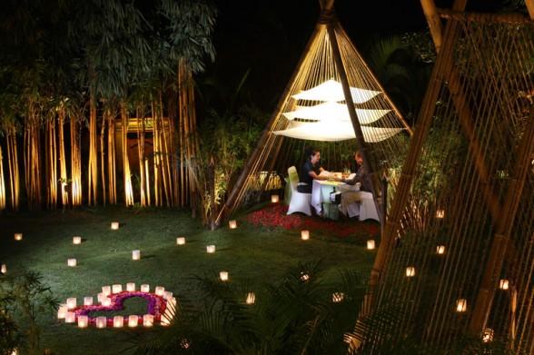 ιδέες για ρομαντικό Τραπέζι σε εξωτερικό χώρο16
