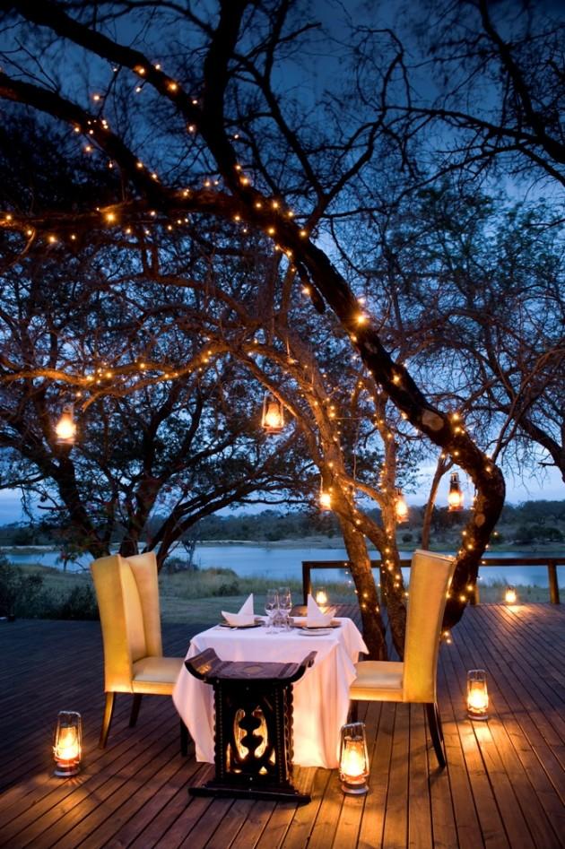 ιδέες για ρομαντικό Τραπέζι σε εξωτερικό χώρο18