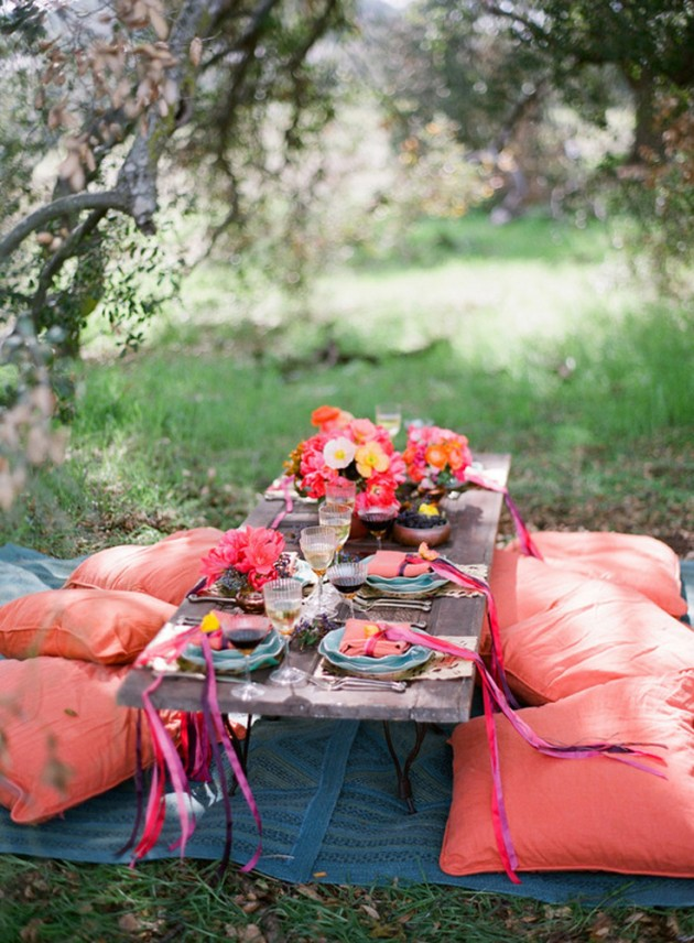 ιδέες για ρομαντικό Τραπέζι σε εξωτερικό χώρο2