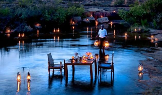 ιδέες για ρομαντικό Τραπέζι σε εξωτερικό χώρο20