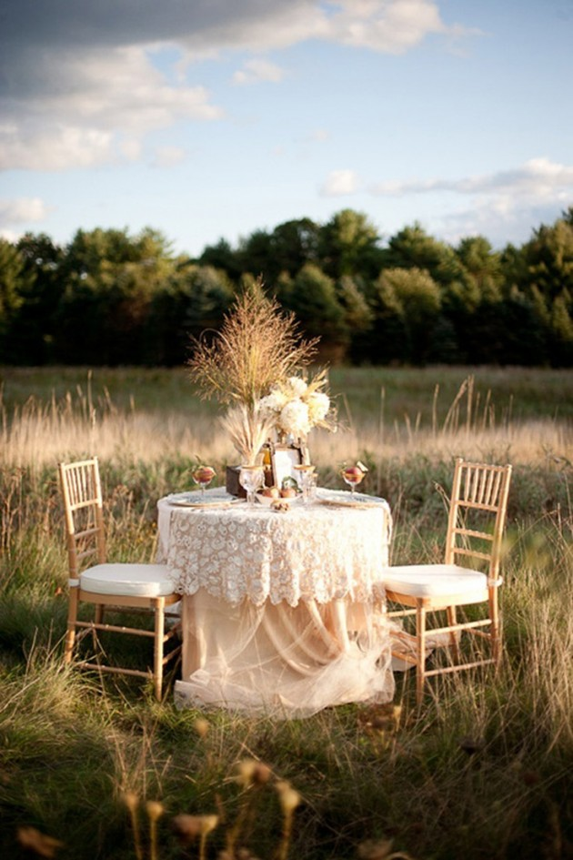 ιδέες για ρομαντικό Τραπέζι σε εξωτερικό χώρο9