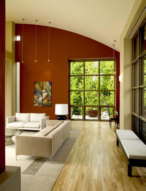 ιδέες  σχεδιασμού για να τονίσετε ένα τοίχο στο σαλόνι σας12