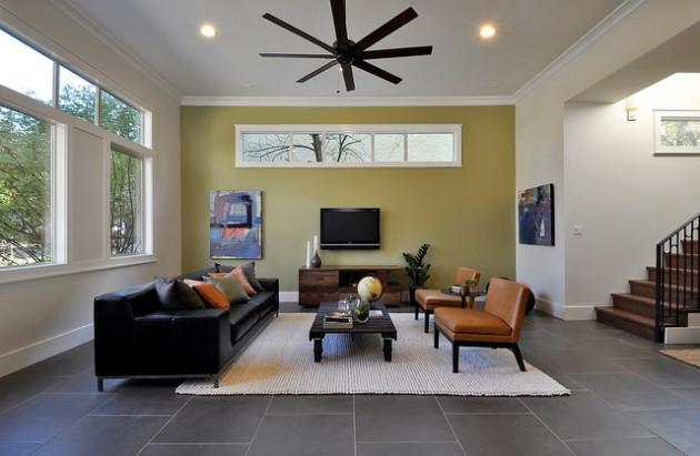 ιδέες  σχεδιασμού για να τονίσετε ένα τοίχο στο σαλόνι σας19