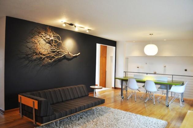 30 Μοναδικές ιδέες  σχεδιασμού για να τονίσετε ένα τοίχο στο σαλόνι σας