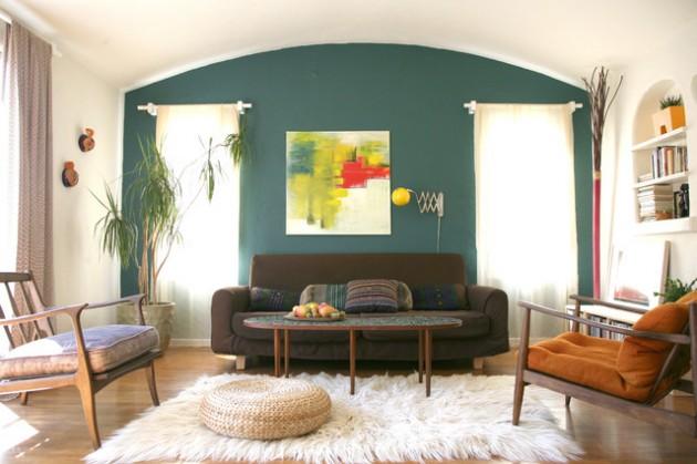 ιδέες  σχεδιασμού για να τονίσετε ένα τοίχο στο σαλόνι σας29