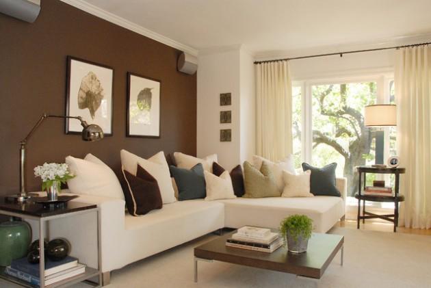 ιδέες  σχεδιασμού για να τονίσετε ένα τοίχο στο σαλόνι σας4