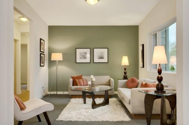 ιδέες  σχεδιασμού για να τονίσετε ένα τοίχο στο σαλόνι σας9