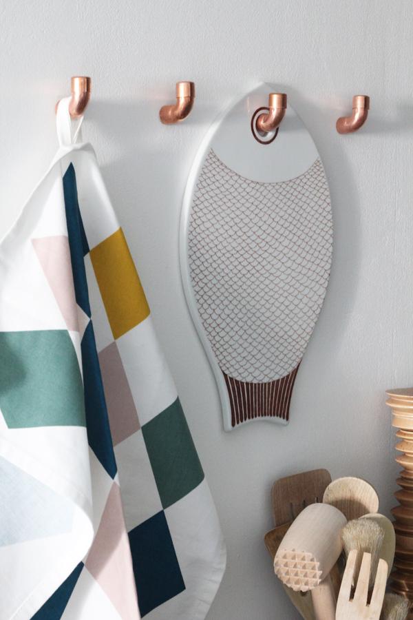 Diy Άγκιστρα τοίχου από Χαλκοσωλήνες υδραυλικών