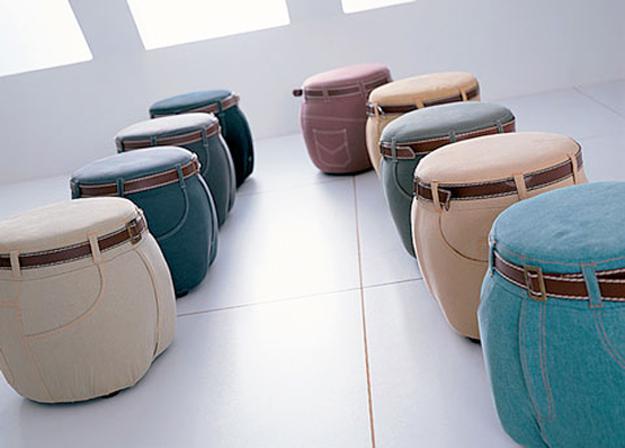 ιδέες ανακύκλωσης τζιν και ετικέτων σε Μοναδικές επιπλώσεις και αξεσουάρ σπιτιού4