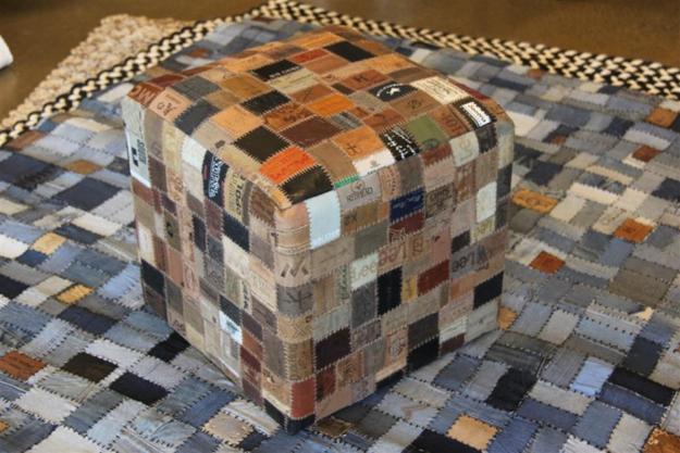 ιδέες ανακύκλωσης τζιν και ετικέτων σε Μοναδικές επιπλώσεις και αξεσουάρ σπιτιού7