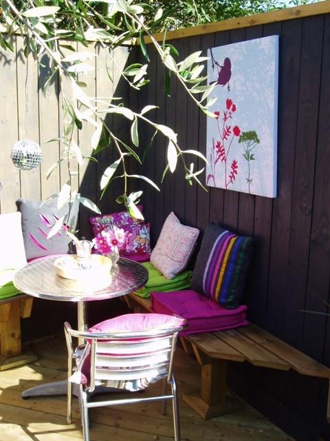 DIY WallArt Ιδέες για τον φράχτη του Κήπου σας17