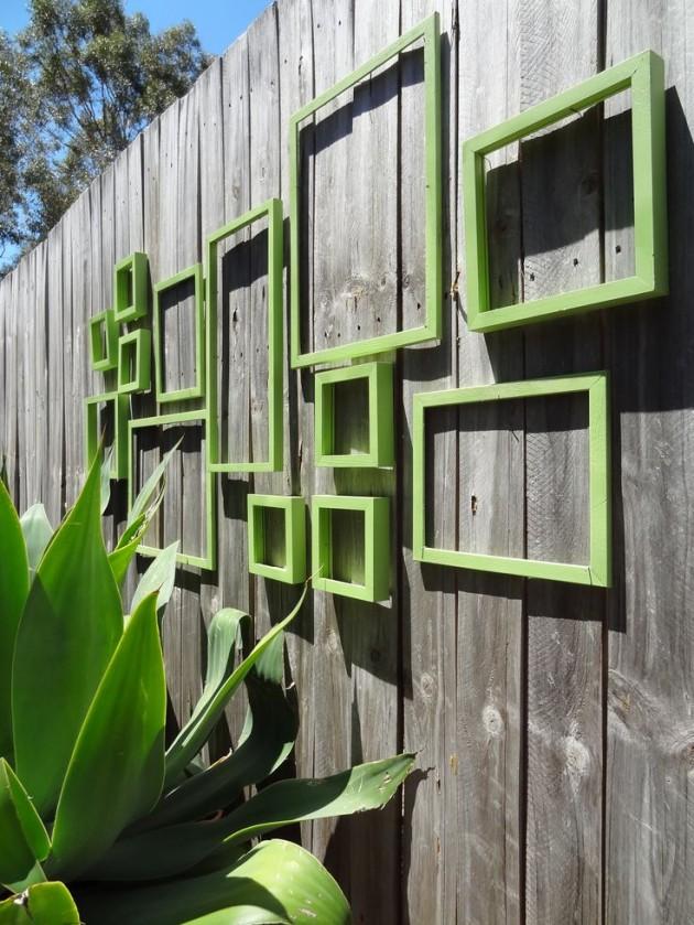 DIY WallArt Ιδέες για τον φράχτη του Κήπου σας18