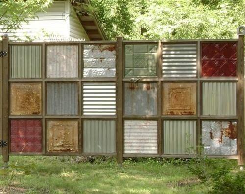 DIY WallArt Ιδέες για τον φράχτη του Κήπου σας5