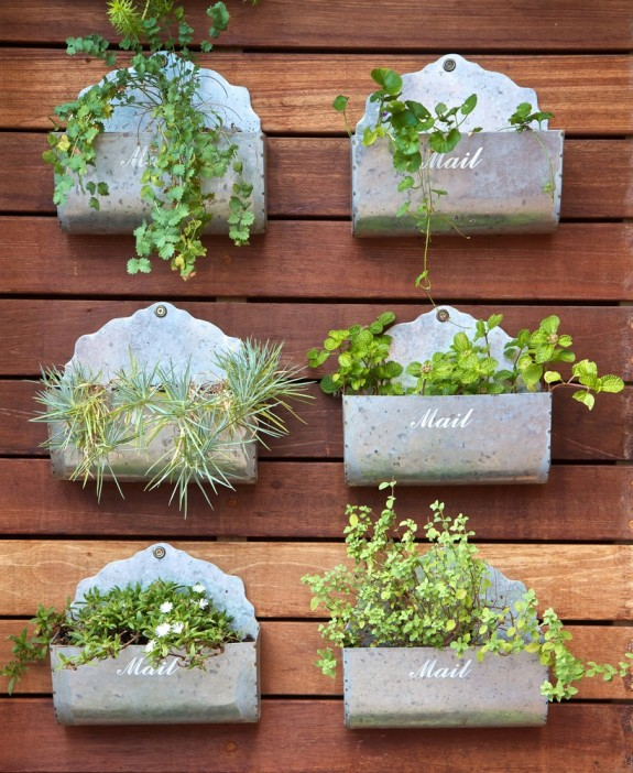 Φυτεύοντας στον τοίχο, καθετοι κήποι