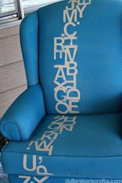 ιδέες με Diy σχέδια stencil - καρέκλα