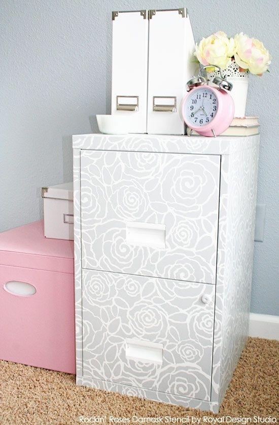 ιδέες με Diy σχέδια stencil - ντουλάπι