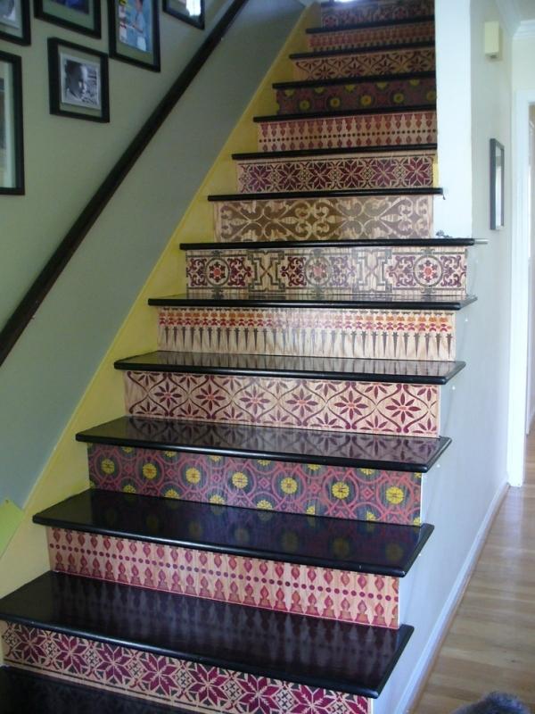 ιδέες με Diy σχέδια stencil - σκάλες