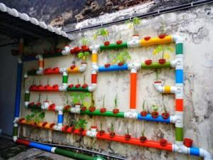DIY κάθετος κήπος1