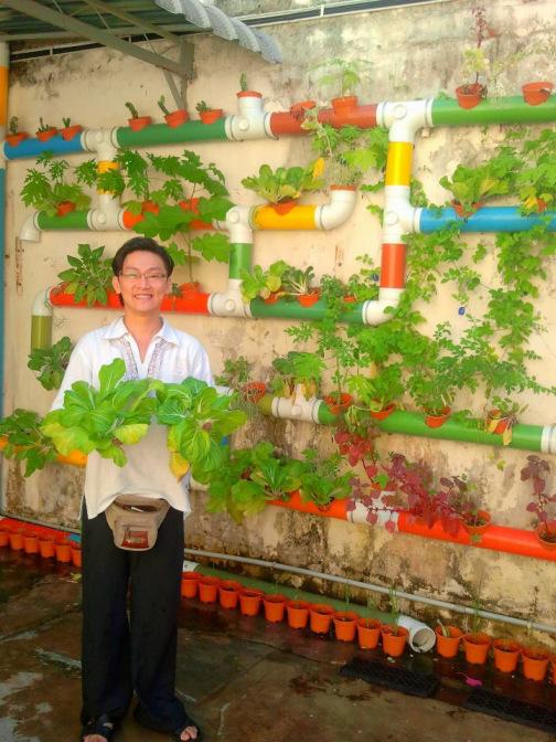 DIY κάθετος κήπος4