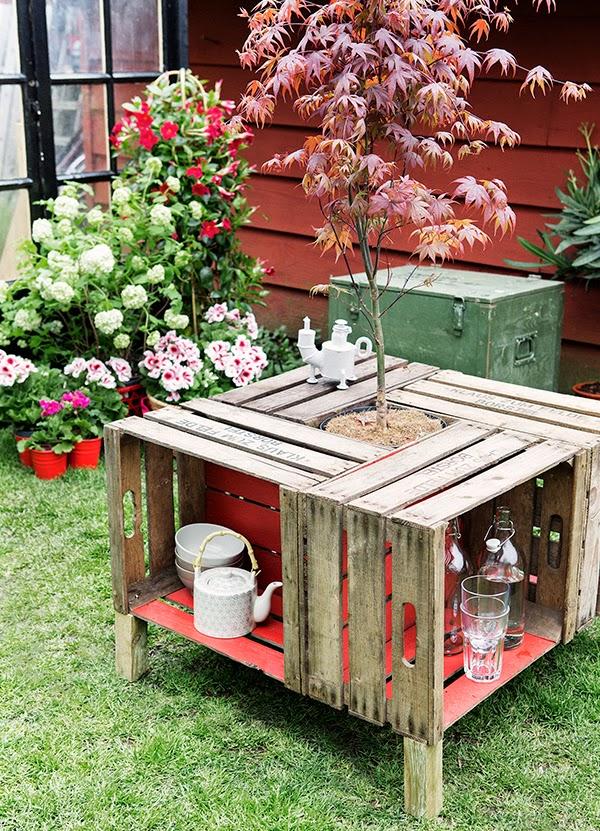 Υπέροχος κήπος με Diy στυλ
