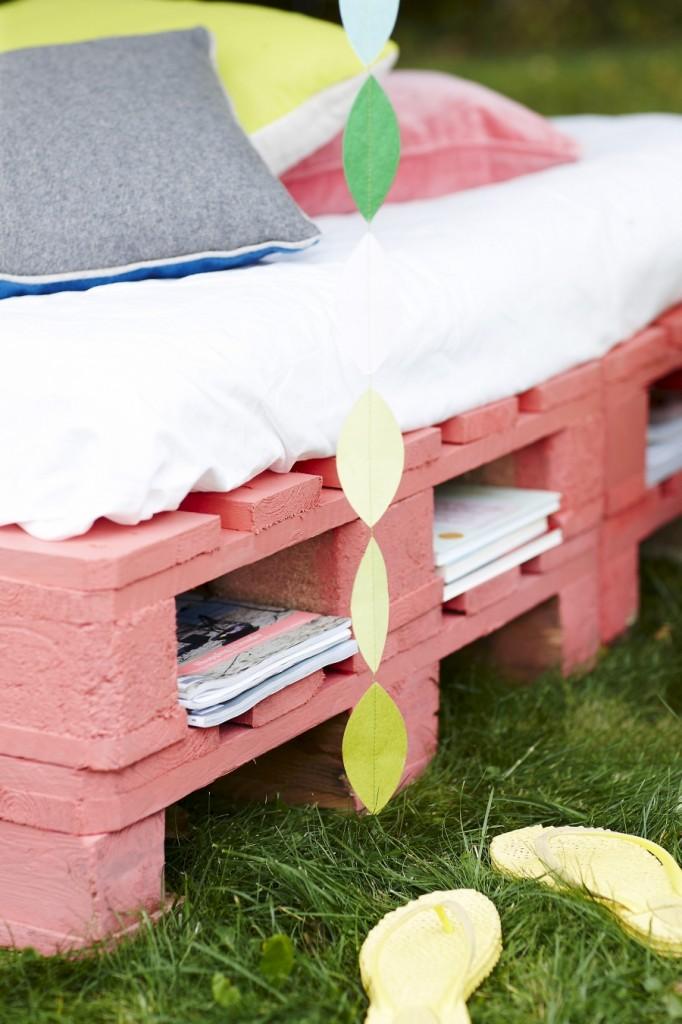 DIY Φτιάξτε το δικό σας κρεβάτι - καναπέ κήπου από Ευρωπαλέτες3