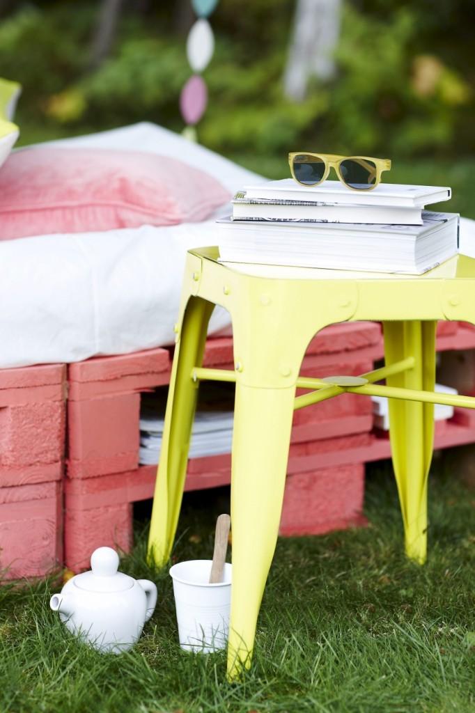 DIY Φτιάξτε το δικό σας κρεβάτι - καναπέ κήπου από Ευρωπαλέτες4