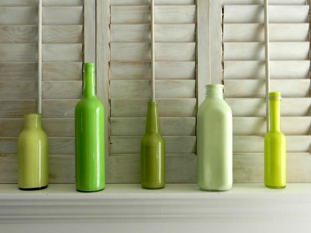 Διακοσμητικά πολύχρωμα βάζα από γυάλινα μπουκάλια4