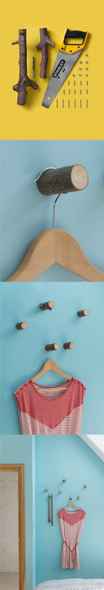 Κρεμάστρες από μικρά κομμάτια ξύλου