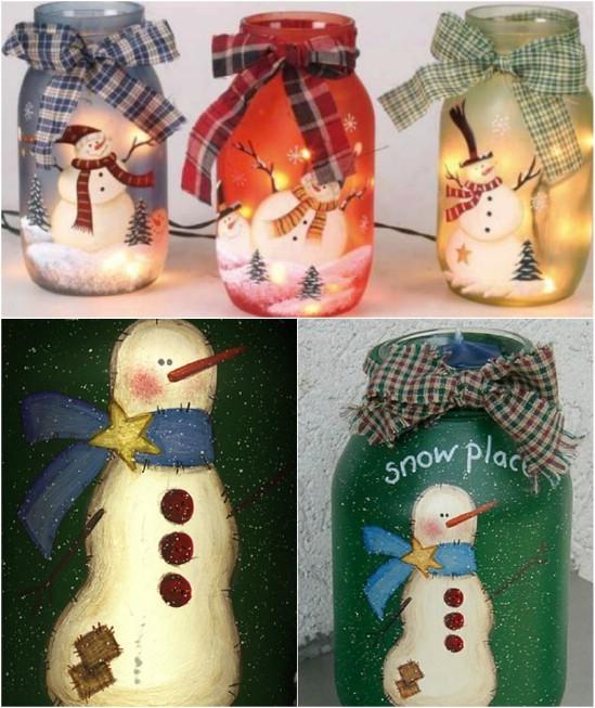 Χριστουγεννιάτικες κατασκευές με βάζα1