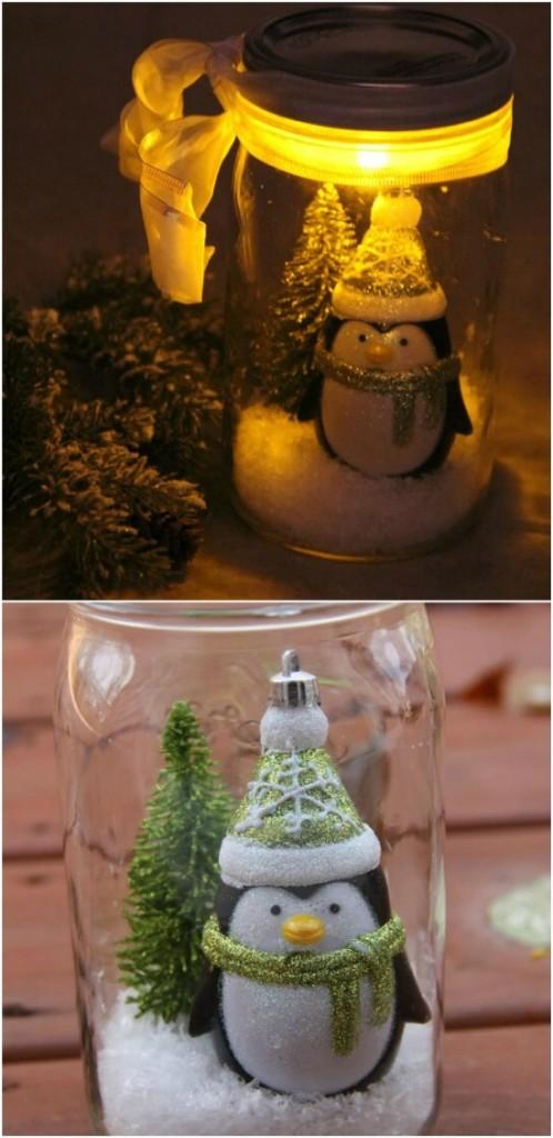 Χριστουγεννιάτικες κατασκευές με βάζα12