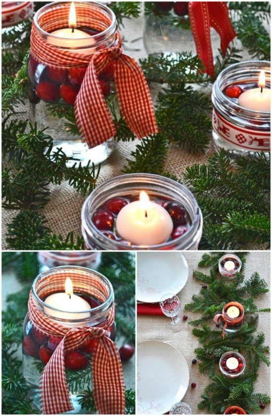 Χριστουγεννιάτικες κατασκευές με βάζα7