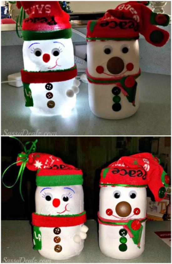 Χριστουγεννιάτικες κατασκευές με βάζα8