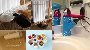ιδέες με PVC σωλήνες για το σπίτι