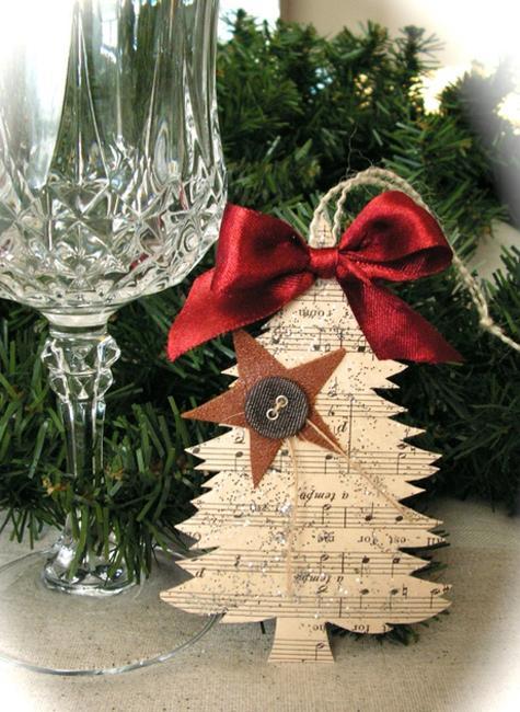 οικολογικά Χριστουγεννιάτικα στολίδια από χαρτί1