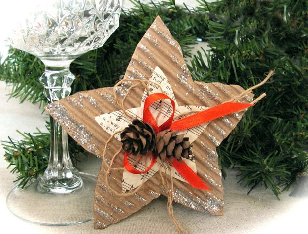 οικολογικά Χριστουγεννιάτικα στολίδια από χαρτί4
