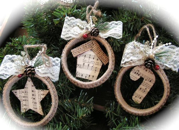 οικολογικά Χριστουγεννιάτικα στολίδια από χαρτί6