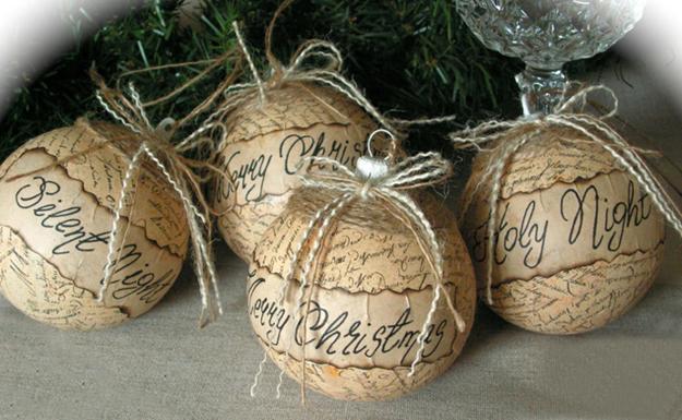 οικολογικά Χριστουγεννιάτικα στολίδια από χαρτί7