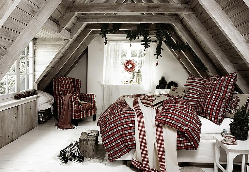 χριστουγεννιάτικη διακόσμηση κρεβατοκάμαρας5