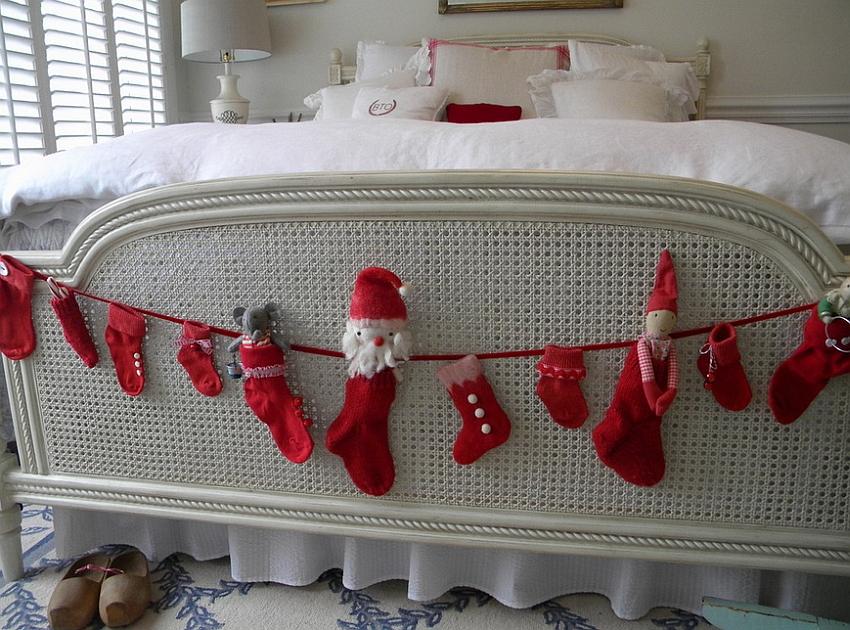 χριστουγεννιάτικη διακόσμηση κρεβατοκάμαρας8