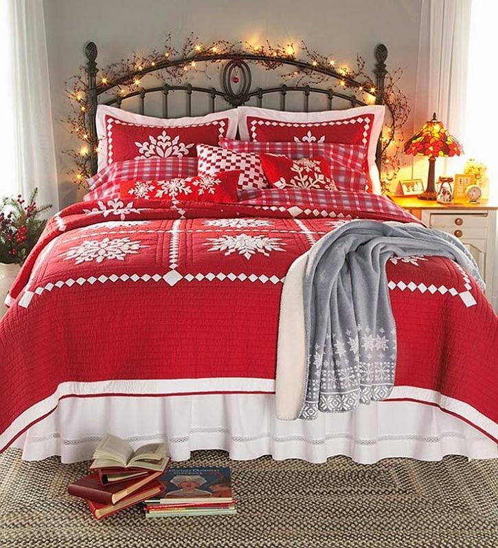 χριστουγεννιάτικη διακόσμηση κρεβατοκάμαρας9