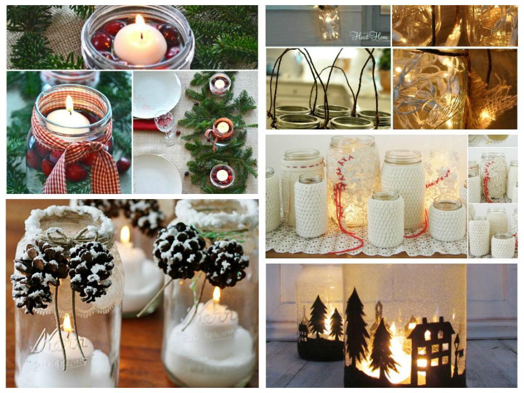 12 Θαυμάσιες Χριστουγεννιάτικες κατασκευές με βάζα