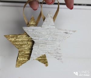 DIY Ρουστίκ Ανάγλυφα Χριστουγεννιάτικα Διακοσμητικά  Αστεράκια