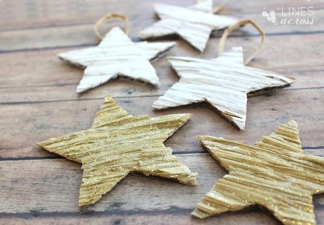 DIY Ρουστίκ Ανάγλυφα Χριστουγεννιάτικα Διακοσμητικά  Αστεράκια3