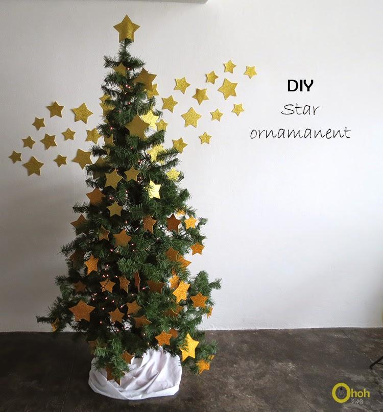 DIY Χριστουγεννιάτικο δέντρο με αστέρια 1