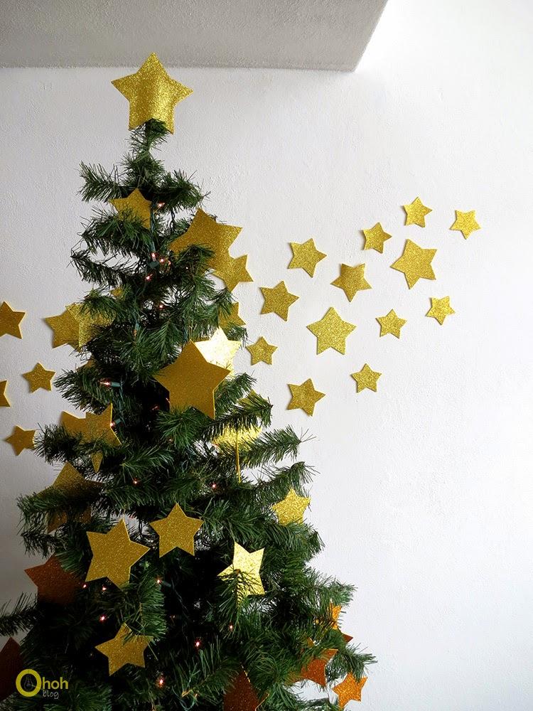 DIY Χριστουγεννιάτικο δέντρο με αστέρια 5