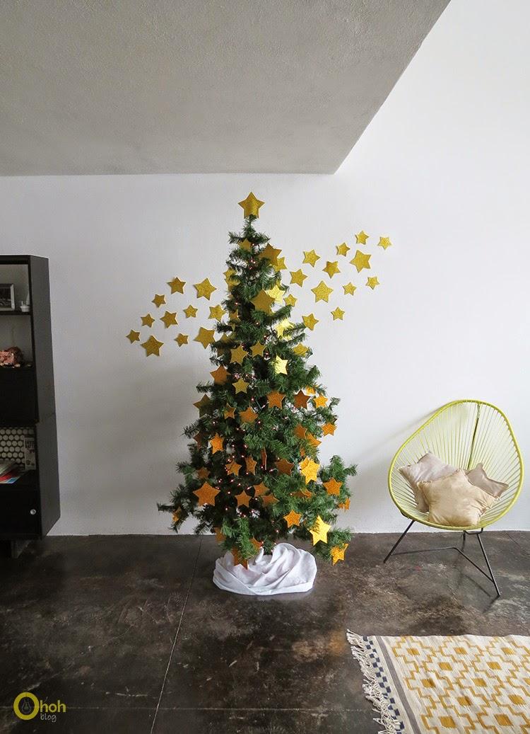 Μαγικό DIY Χριστουγεννιάτικο δέντρο με αστέρια