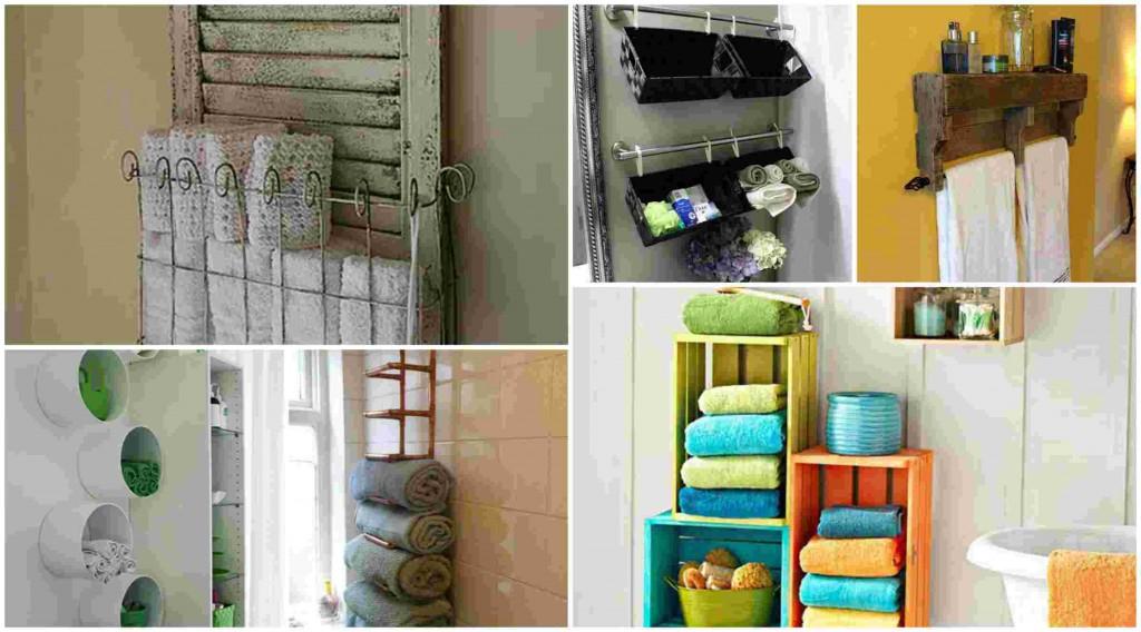 12 'Εξυπνες DIY ιδέες για να κρατήσετε τις Πετσέτες στο μπάνιο Οργανωμένες